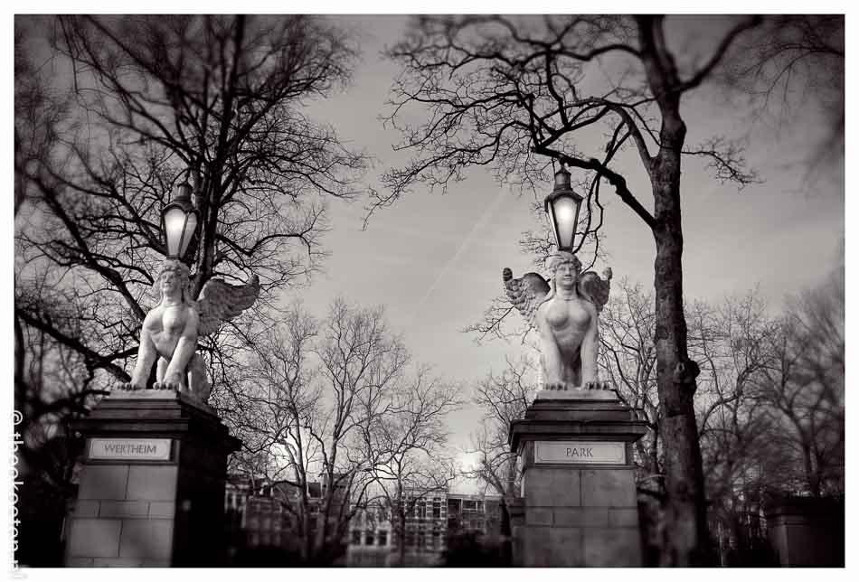 wertheimpark in Amsterdam scan bewerkt tijdens cursus in Photoshop